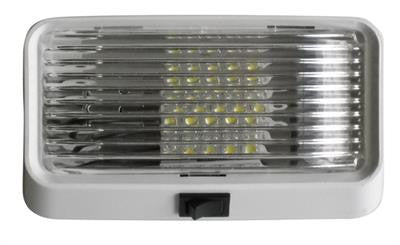 LED RV Porch Light with Clear Lens