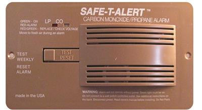 Professional LP/CO Alarm - Flush Mount - Brown - 70-742-P-BR