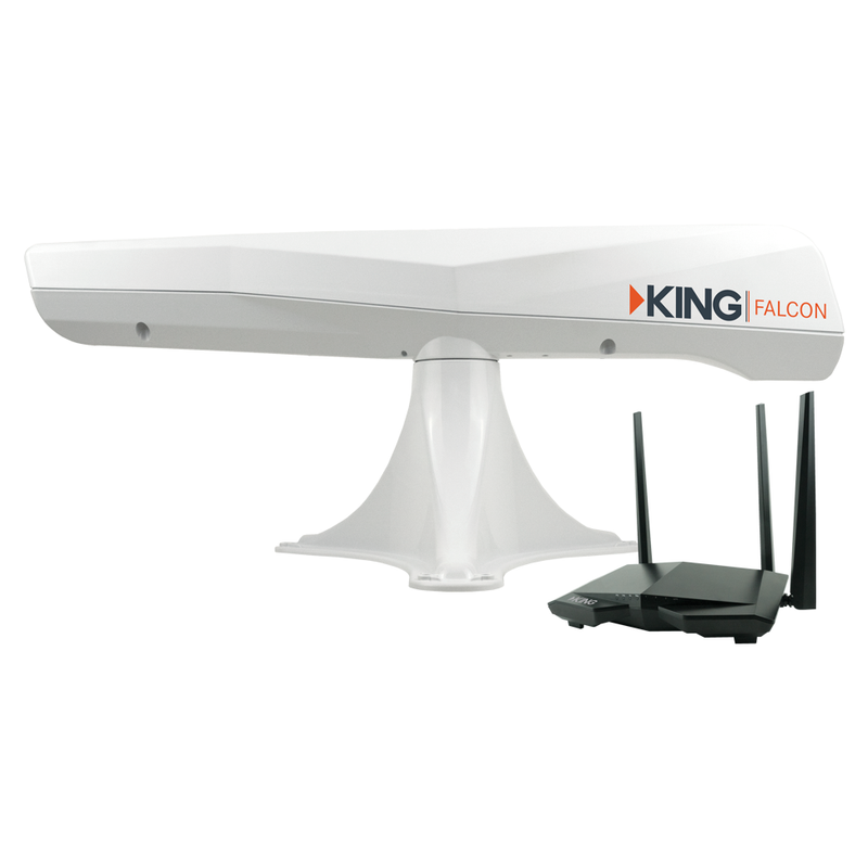 King Falcon Automatic Directional Wi-Fi Antenna w/Extender -white  KF1000