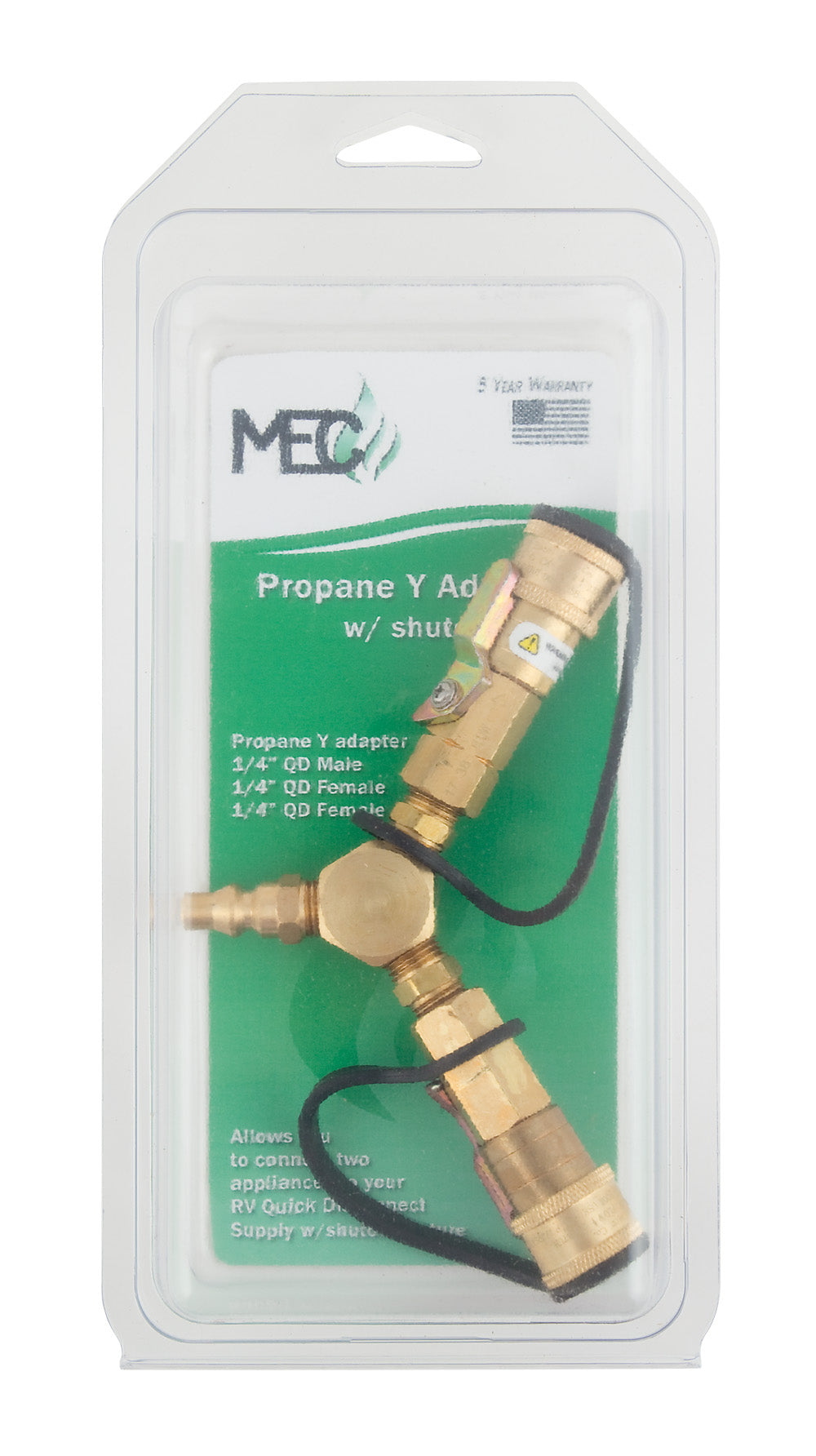 "Propane ""Y"" Adapter w/ Shut Off - ME23YP"