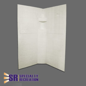"Neo Shower Wall - Parchment - 27"" x 27"" x 65"" - NSW2727P"