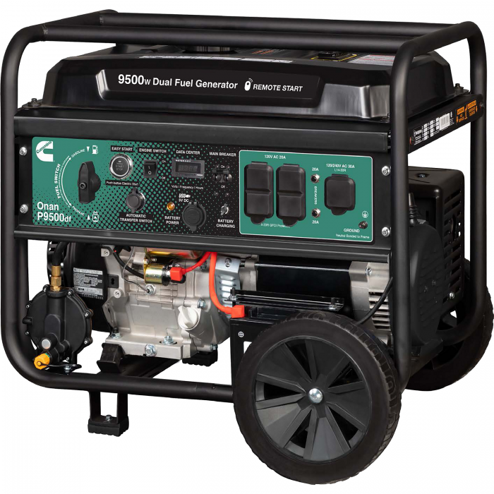Cummins Onan 9500 Watt Dual Fuel Electric Start Portable Generator - P9500df