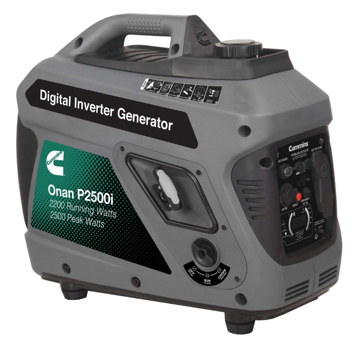 Cummins Onan 2500 Watt Digital Inverter Gasoline Portable Generator - P2500i