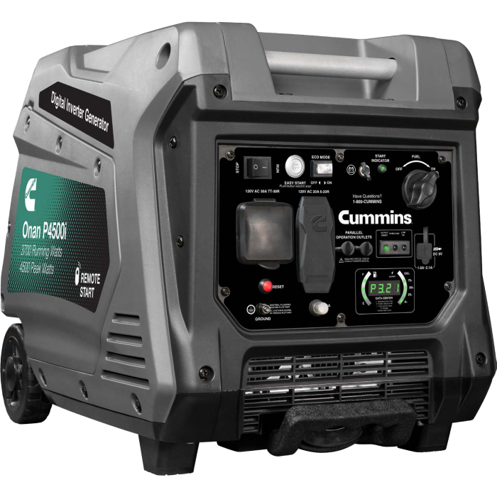 Cummins Onan 4500 Watt Digital Inverter Electric Start Gasoline Portable Generator - P4500i