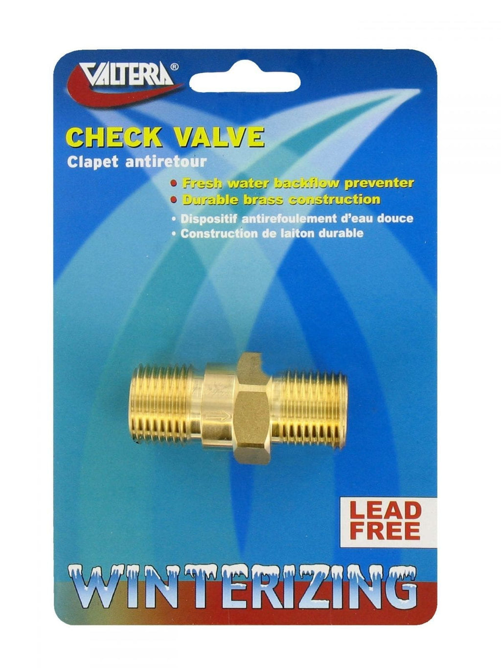 Water Heater Check Valve - 1/2″, Brass - MPT x MPT
