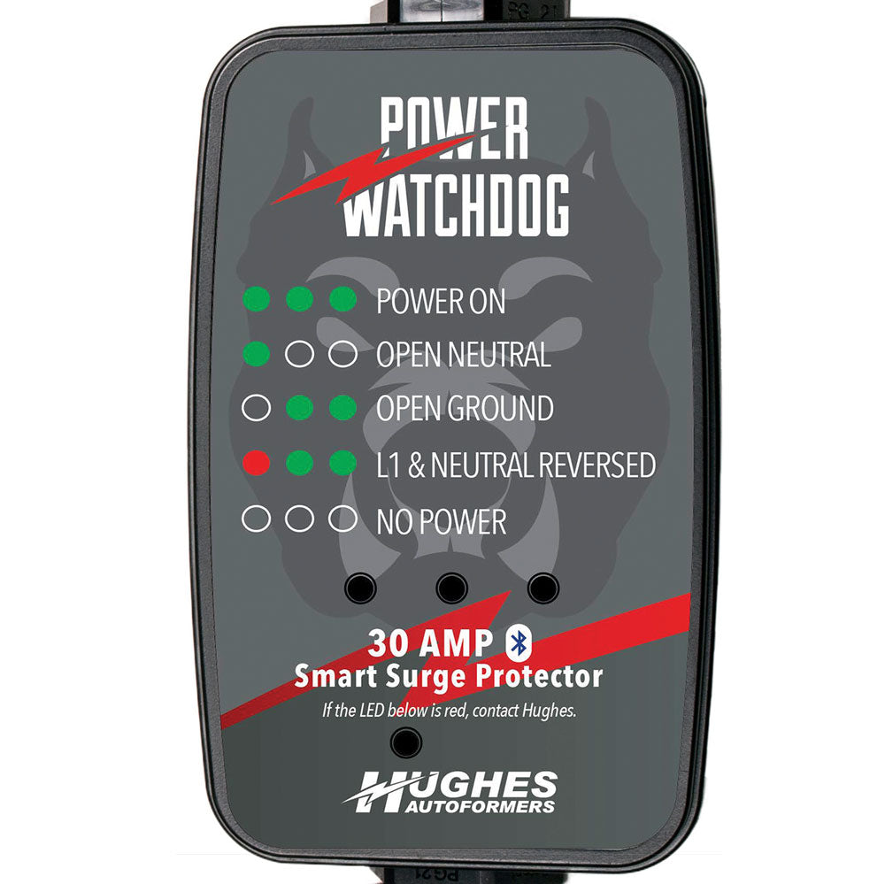 Portable 30 Amp Bluetooth Surge Protector - Hughes Autoformers PWD30