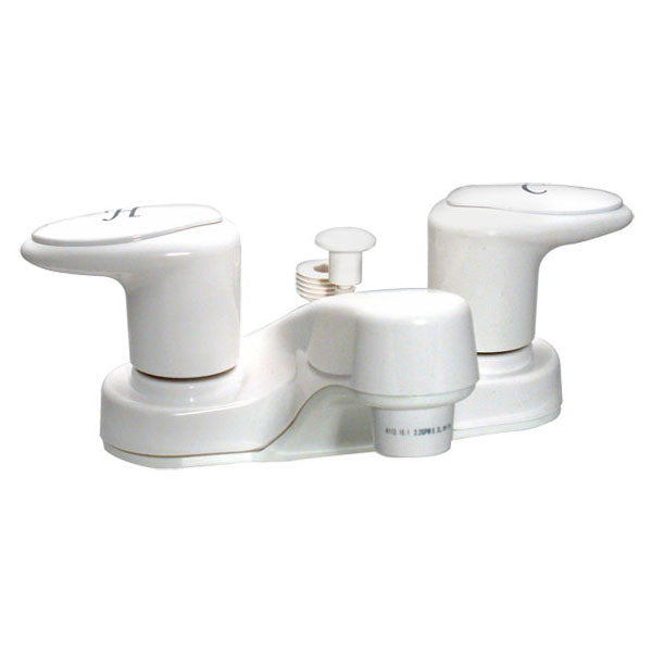"Catalina 4"" RV Lavatory Faucet Tub Diverter - White"