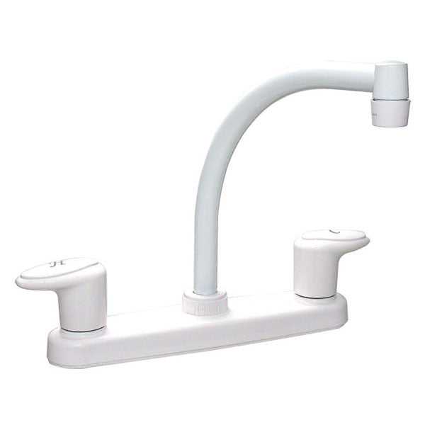 "Catalina 8"" RV Hi Arc Kitchen Faucet - White"