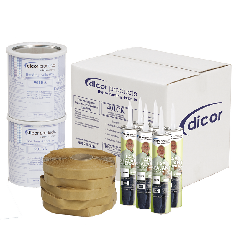 Dicor Installation Kit for EPDM and TPO Roofing - White - 401-CK