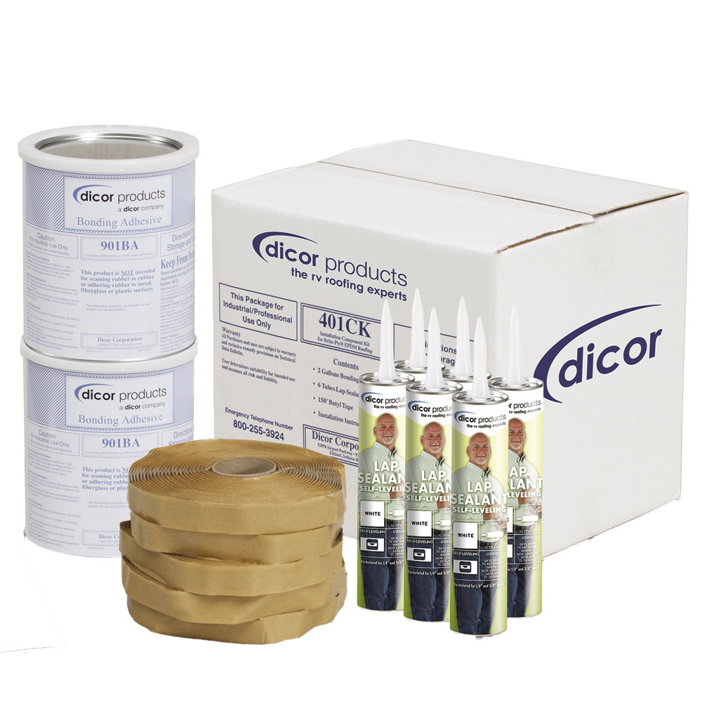 Dicor Installation Kit for EPDM and TPO Roofing - Tan - 401CK-T