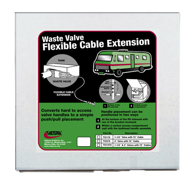 RV Sewer Hose Actuated Valve Kit - 3""