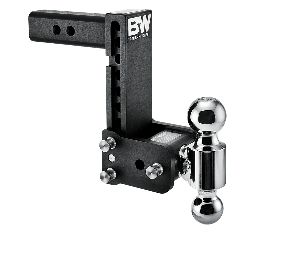 "B&W Trailer Hitch Ball Mount - Dual Ball 7"" Drop - Black 14-3342"