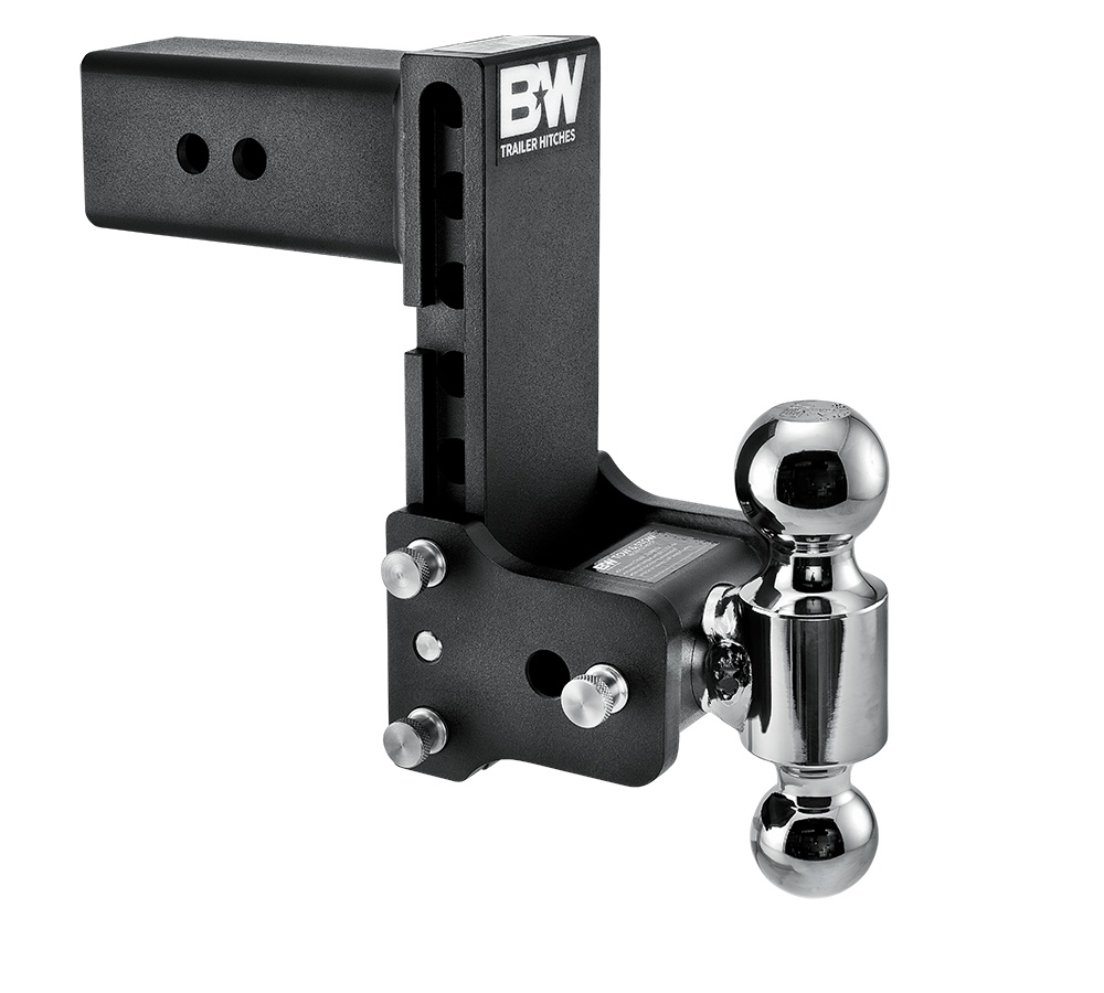 "B&W Trailer Hitch Ball Mount - Dual Ball 7.5"" Drop - 3"" Reciever - Black 14-1856"