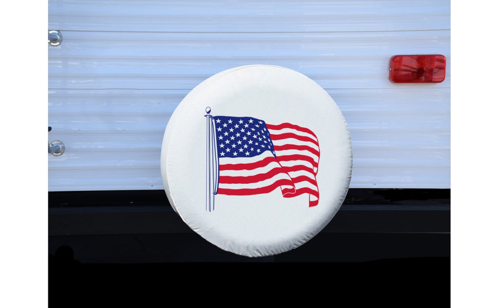 "Tire Cover - ""J"" - American Flag - 27"""