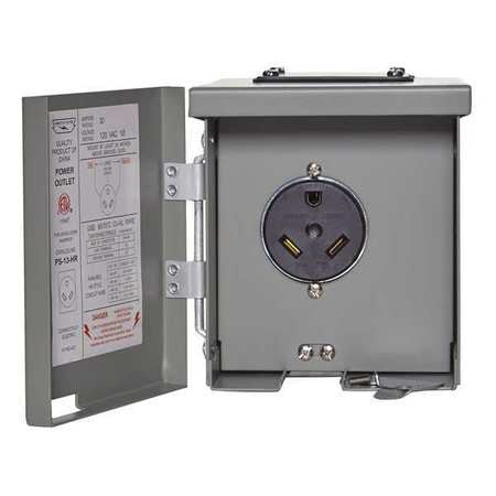 Electrical Box for RV Power Outlet - 30 Amp - U013P