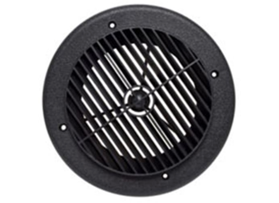"4"" Louvered Air Port for Roof A/C - Round - Black"