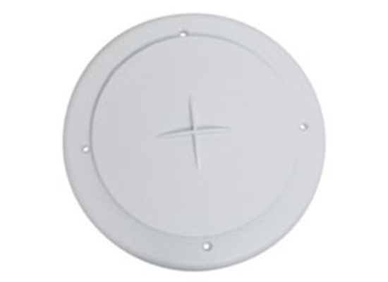 "4"" Air Port for Roof A/C - Round - White"