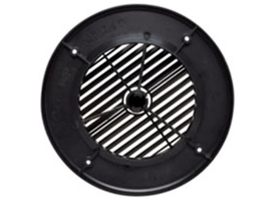 "4"" Louvered Air Port for Roof A/C - Round - Black  A10-3356VP"