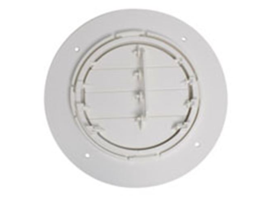 "4"" Adjustable Spaceport Ceiling A/C Vent- Round - White"