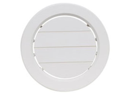 "5"" Adjustable A/C Ceiling Register - Round - White  A10-3358VP"
