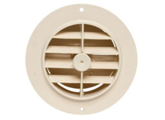 "4"" Heating & A/C Register - Round - Off White"