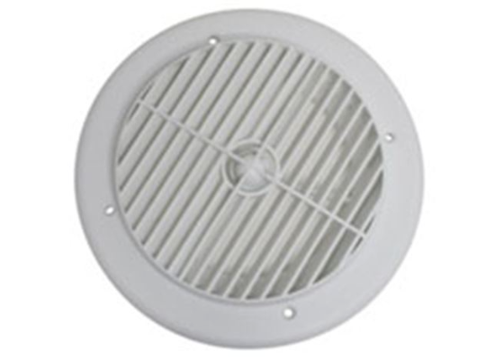 "4"" Louvered Air Port for Roof A/C - Round - White"