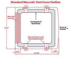 Maxxair Vent Cover - Black - 00-933069