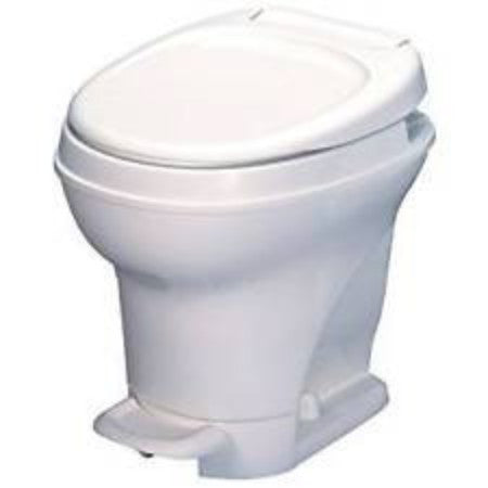 Thetford AM V Hi RV Toilet with Foot Flush - White or Parchment 31671/31672