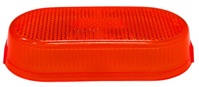 Clearance/Side Marker Light - Lens Only - w/ Reflex - Red
