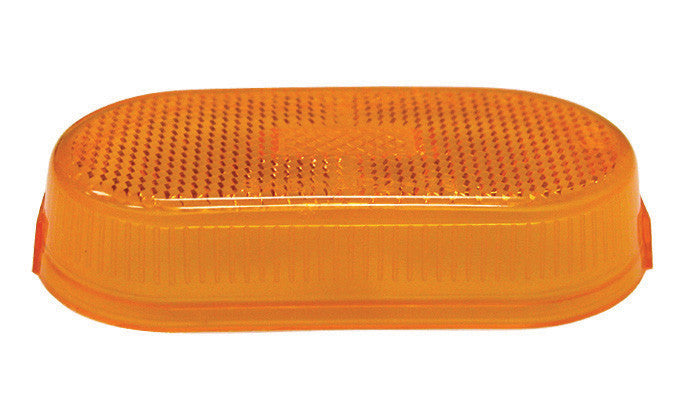 Clearance/Side Marker Light - Lens Only - w/ Reflex - Amber