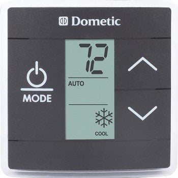 Black Dometic Thermostat - Single Zone LCD - 3316250.012