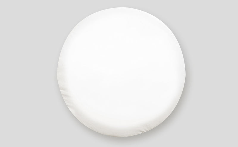 "Tire Cover - ""J"" - Polar White - 27"""