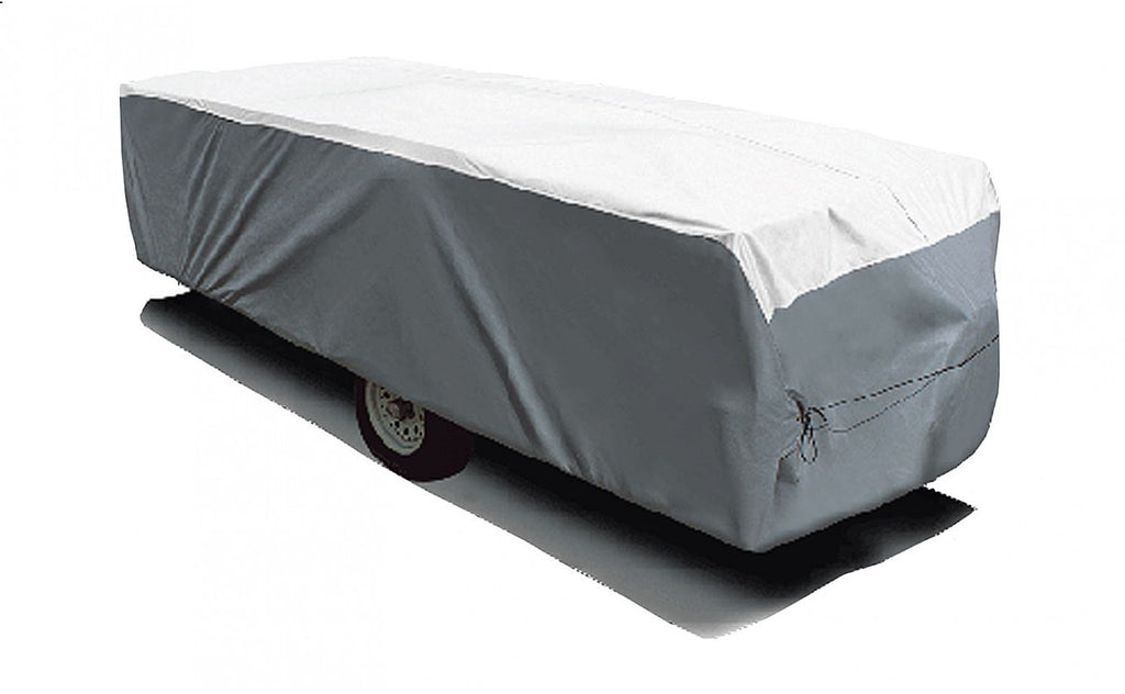 "Folding Pop-Up - Designer Series Tyvek® Plus Wind RV Covers - Up to 22'6"" *Hi-Low Trailers"