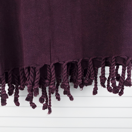 fouta demadre pure burgundy