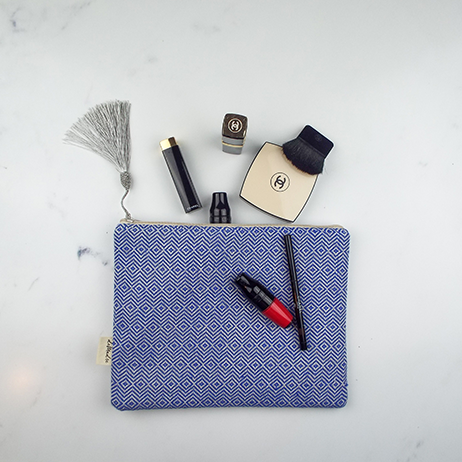 demadre make up bag blue
