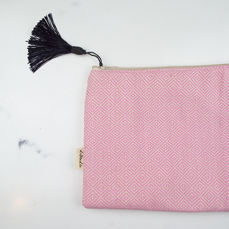 demadre make up bag pink