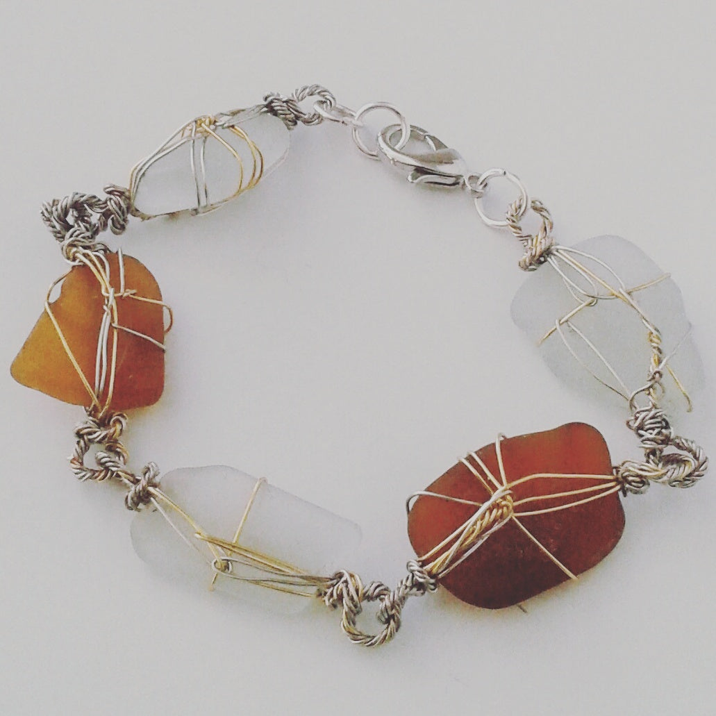 Bermudian Sea Glass Bracelet