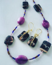 Zebra Jasper & Quartz Necklace Set