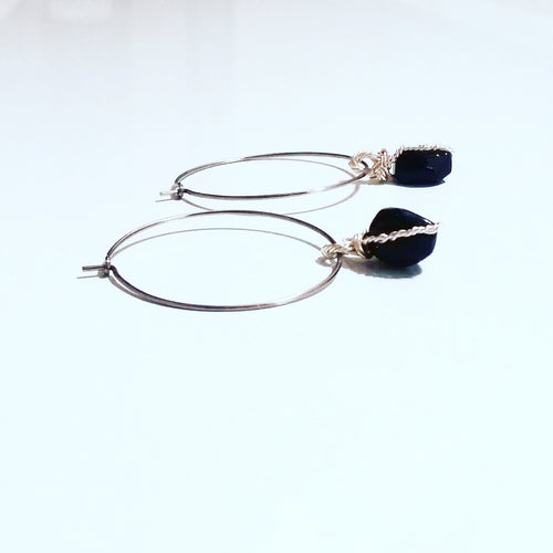 Rocker Chic Onyx Hoops