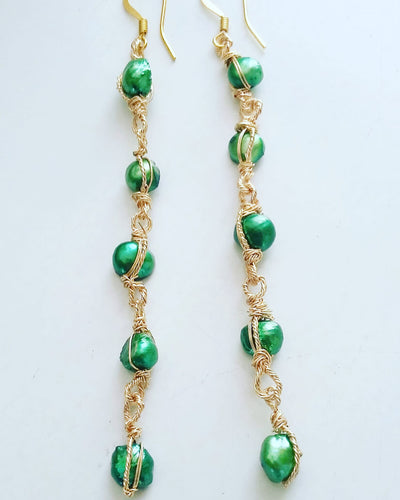 Long (Mint Green) Earrings