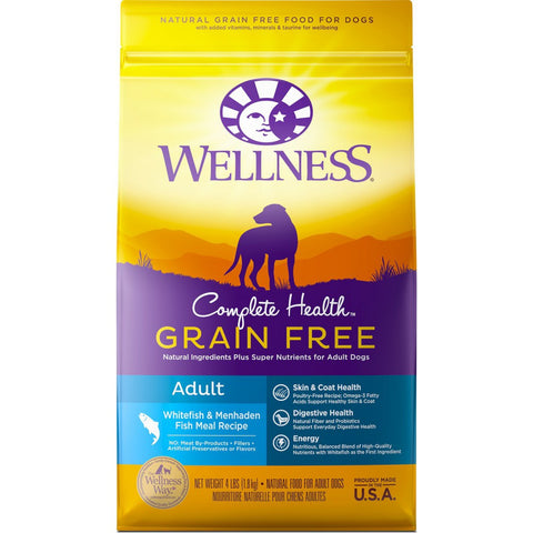 Wellness Complete Health Grain Free Adult Whitefish & Menhaden Meal Dry Dog Food