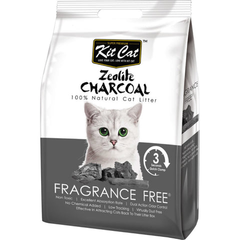Kit Cat Zeolite Charcoal Cat Litter Series (4kg) Fragrance Free