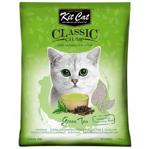 Kit Cat Classic Clump Litter (10L/7kg) Green Tea
