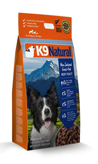 K9 Natural Freeze Dried Beef Feast Raw Dog Food