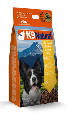 K9 Natural Freeze Dried Chicken Feast Raw Dog Food