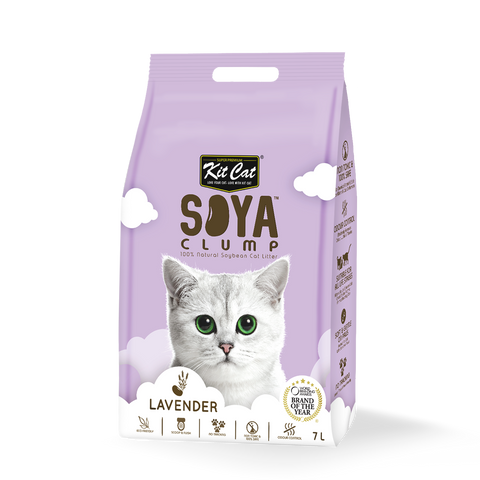 Kit Cat Soya Clump Lavender Cat Litter 7L
