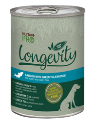 Nurture Pro Longevity Salmon with Green Tea Essence Grain Free Canned Dog Food 375g