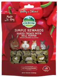 Oxbow Simple Rewards Baked Treats With Bell Pepper For Small Animals 60g