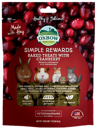 Oxbow Simple Rewards Baked Treats With Cranberry For Small Animals 60g