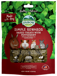 Oxbow Simple Rewards Baked Treats With Peppermint For Small Animals 60g
